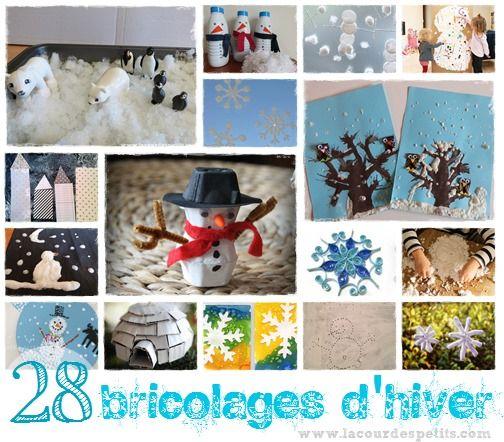 Une sélection de bricolages d'hiver pour occuper les enfants pendant les vacances. Des activités manuelles pour petits et grands autour de la neige !