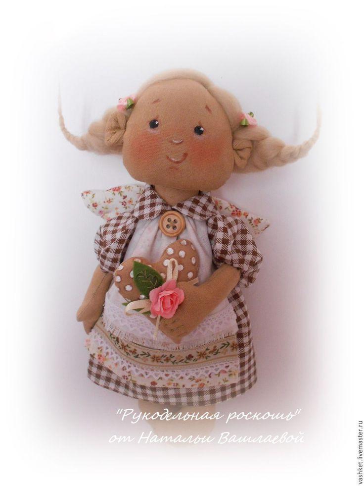 Купить Дара, домашний Ангел - коричневый, кукла ручной работы, кукла, кукла в подарок