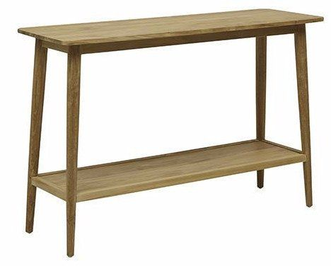 A danish designed console perfect for apartment living or smaller spaces, handcrafted from recycled Teak.