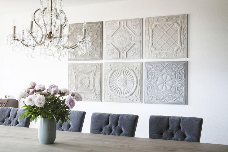 25 beste idee n over houten behang op pinterest planken muren nep open haard en mantel deco - Wallpaper voor hoofdeinde ...
