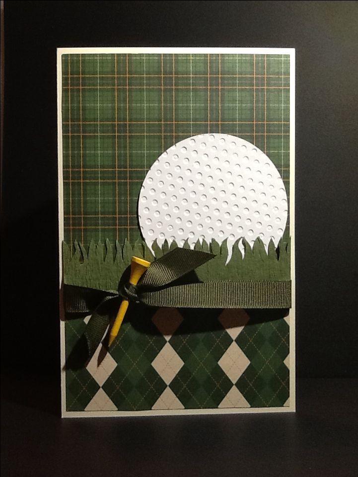 Handmade card, golf, golf greeting card, multi-purpose.