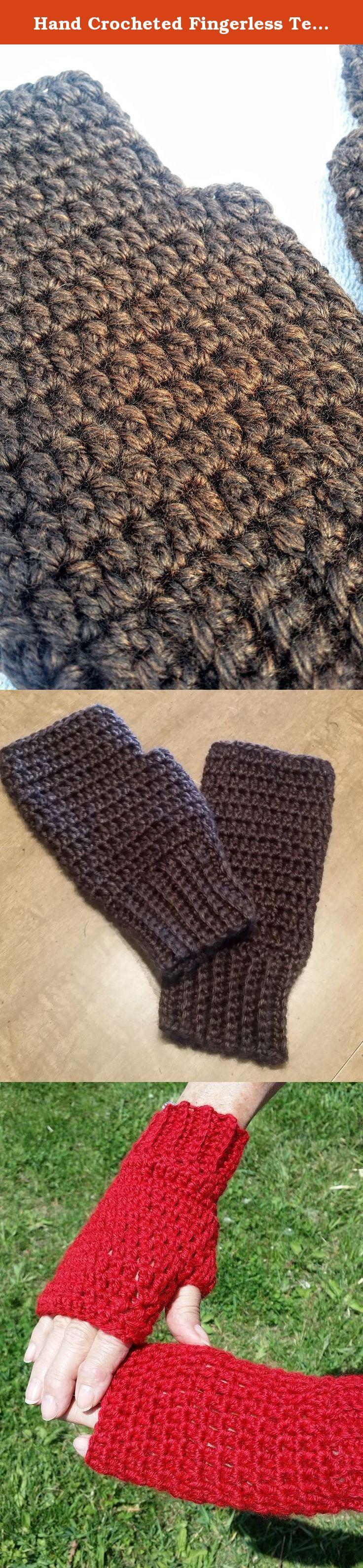 Fingerless gloves eso - Hand Crocheted Fingerless Texting Gloves Arthritis Fibromyalgia Hand Warmers Rich Brown These Gloves