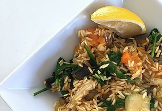 Allergy friendly Brown Rice Pilaf #SUMrecipeoftheday