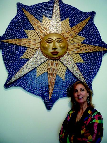 Ceramic Sun Face by Wibroe