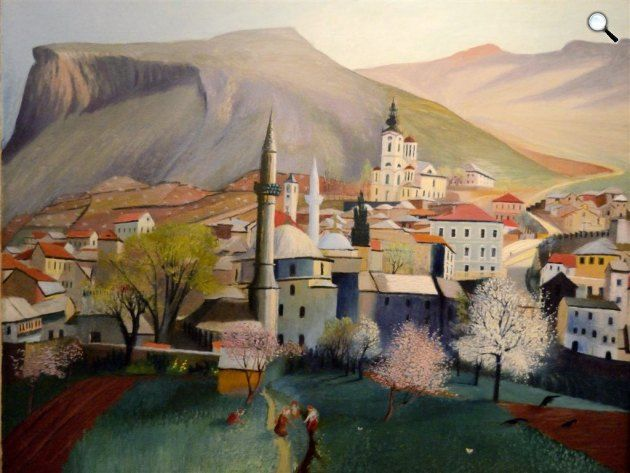 Csontváry Kosztka Tivadar: Tavasznyílás Mosztárban, 1903 (Fotó: Csontváry Múzeum)