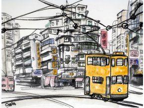 Caska Hongkong FB - obraz na plátně