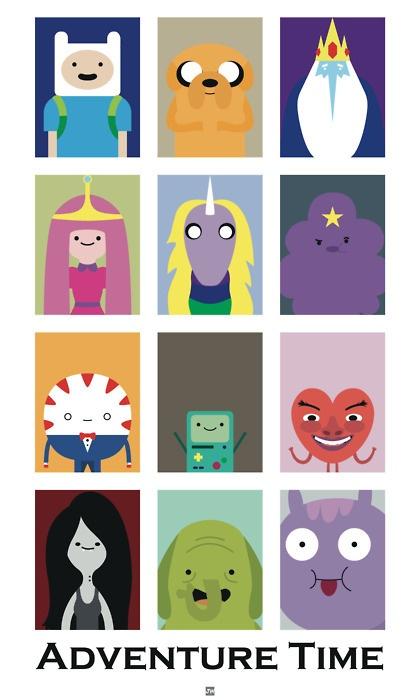 Finn, Jake, Ice King, Princess Jujube, Lady Unicorn, Princess Glob, Butler Mint, BMO, Ricardio, Marceline, Owner Trunk and Little Horse.