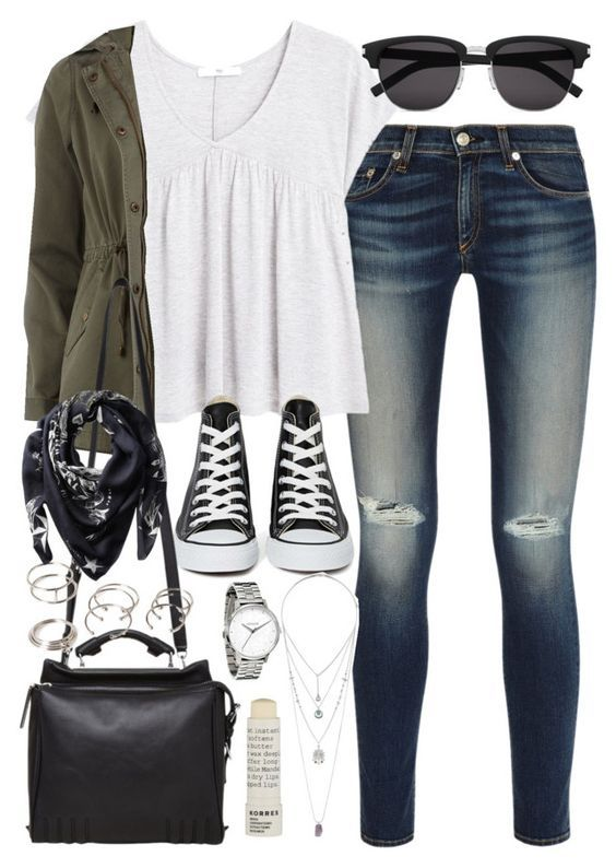 nice 5 stylish college outfits with denim pants or shorts