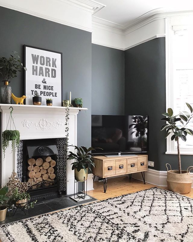 Pin By Milo Teplin On Color Bloc Black Walls Living Room Living Room Scandinavian Black Living Room