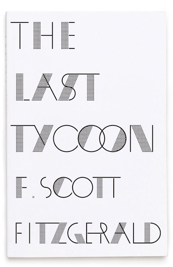 F Scott Fitzgerald Books Get New Bespoke Typography Cover Designs - DesignTAXI.com