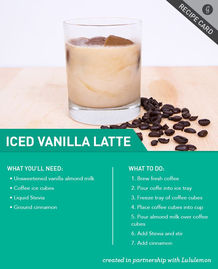 Healthy Vanilla Iced Latte