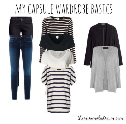 Week One: Capsule Wardrobe Basics   The Minimalist Mom Comfortable and flattering basics in neutral colors that you can add variety to with bold accessories and dress up with heels and chandelier earrings.