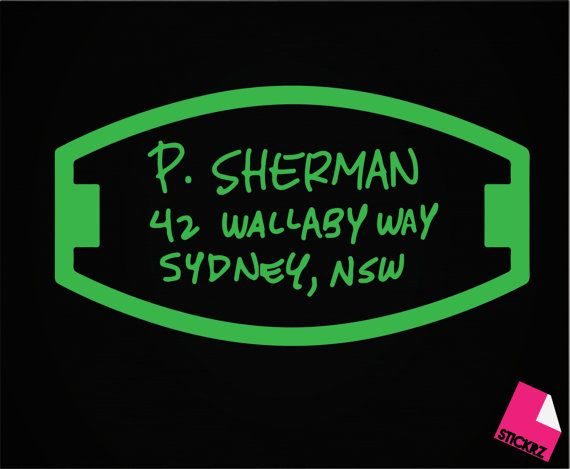 P Sherman 42 Wallaby Way Sydney Nsw Finding Nemo Decal