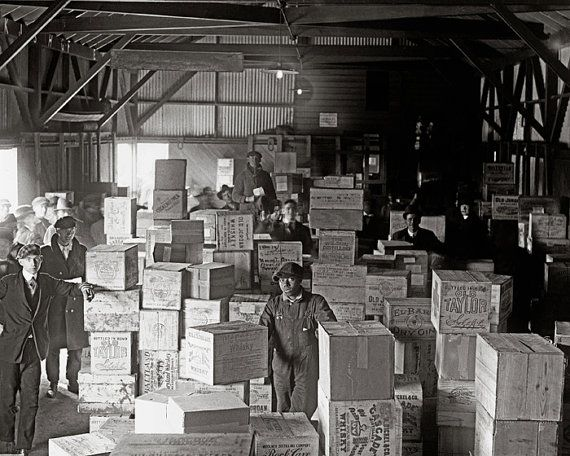 Bootleg Whiskey Warehouse 1920. Vintage Photo by HistoryPhoto - Picture in bar/game room?