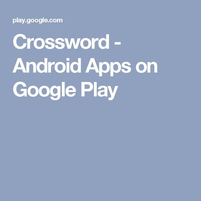 Crossword - Android Apps on Google Play