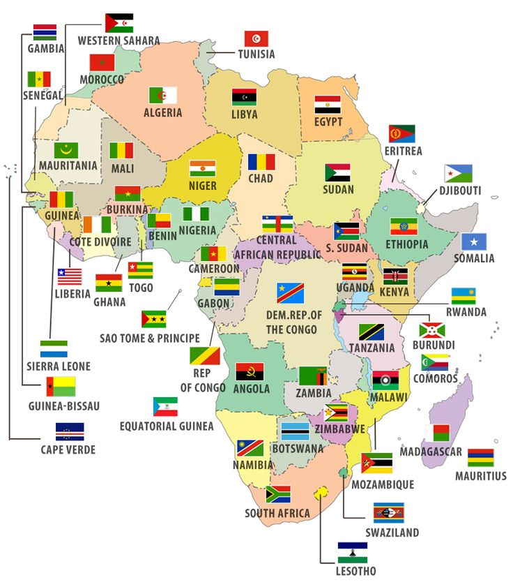 Best 25 africa map ideas on pinterest africa continent african flags of african countries on this site you can get any maps with or without gumiabroncs Gallery