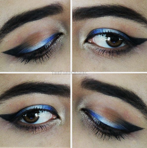 OMBRE EYELINER! Makeup Tutorial: https://youtu.be/NjMhUN140iI  1 OUT OF 5 CREATIVE EYELINER IDEAS, LOOKS, AND STYLES! Source: http://catherineannbarron.com/creative-eyeliner-ideas-looks-and-styles-makeup-eyeliner-tutorial/