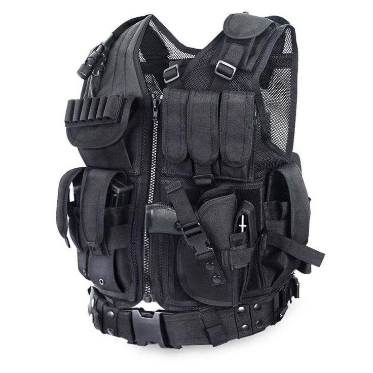 Tactical vest airsoft combat black csfield assault #outdoor #equipment #lightweig,  View more on the LINK: http://www.zeppy.io/product/gb/2/112214059101/
