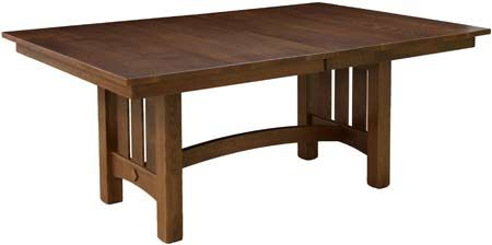 """You'll save on every piece of furniture at Amish Outlet Store! We custom make every item, and you can get the 48"""" x 72"""" Sonora Table in Oak with any wood and stain."""