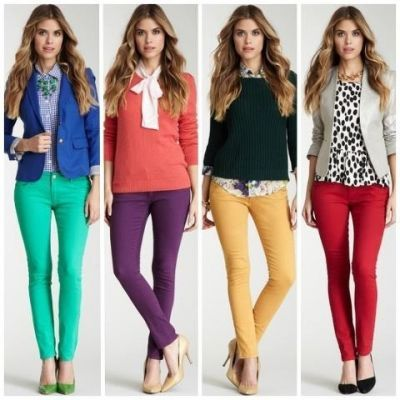 Green, Gray, Royal Blue, Purple, Coral, Yellow, Black, Red, Leopard, Beige / Nude, Turquoise Outfit