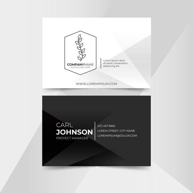 Monochrome Business Card Template Business Card Template Graphic Design Business Card Free Business Card Templates