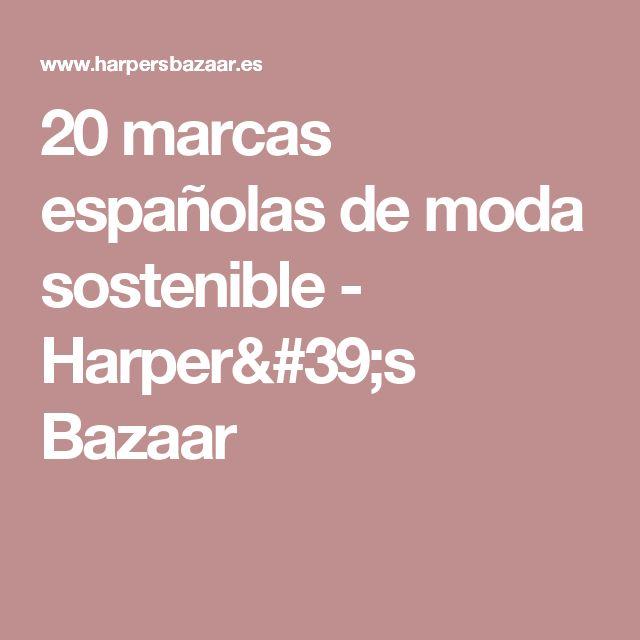 20 marcas españolas de moda sostenible - Harper's Bazaar