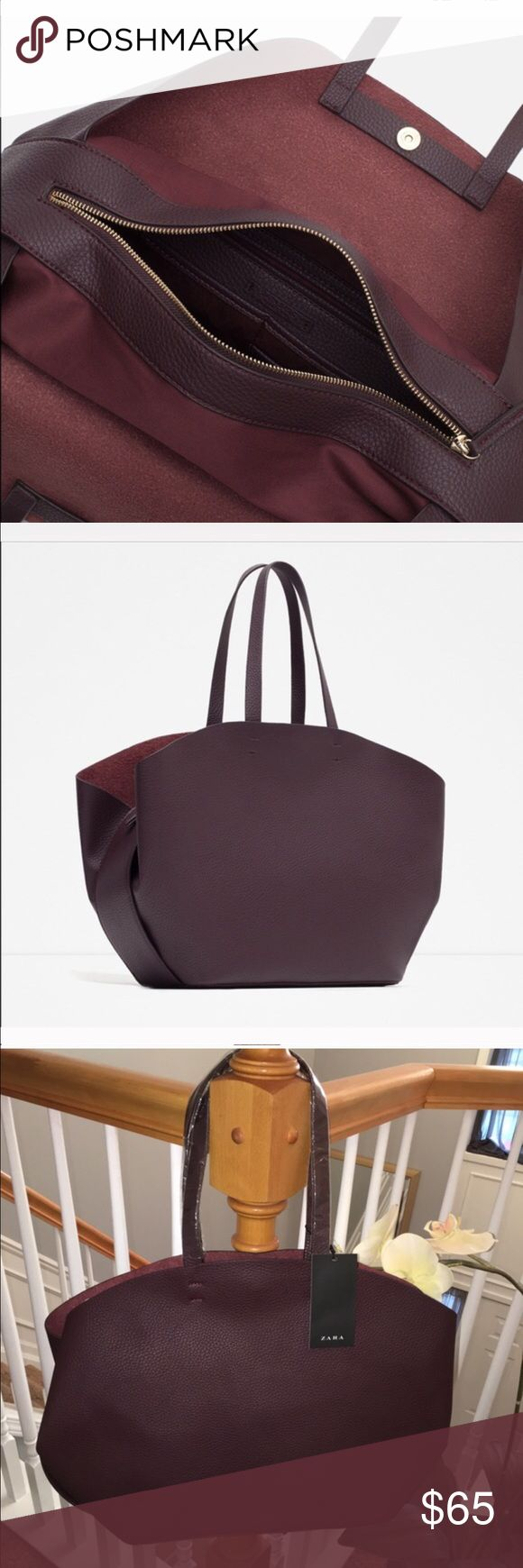 Fall is right around the corner ! ZARA BAG. Nice and large. New with tags. Zara Bags