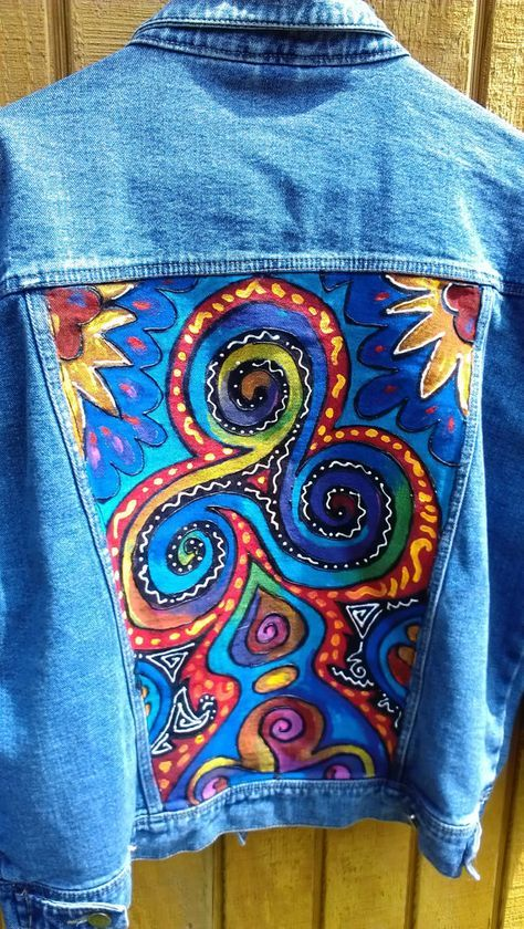 Hey, I found this really awesome Etsy listing at https://www.etsy.com/listing/190240675/wearable-art-hand-painted-denim-jacket
