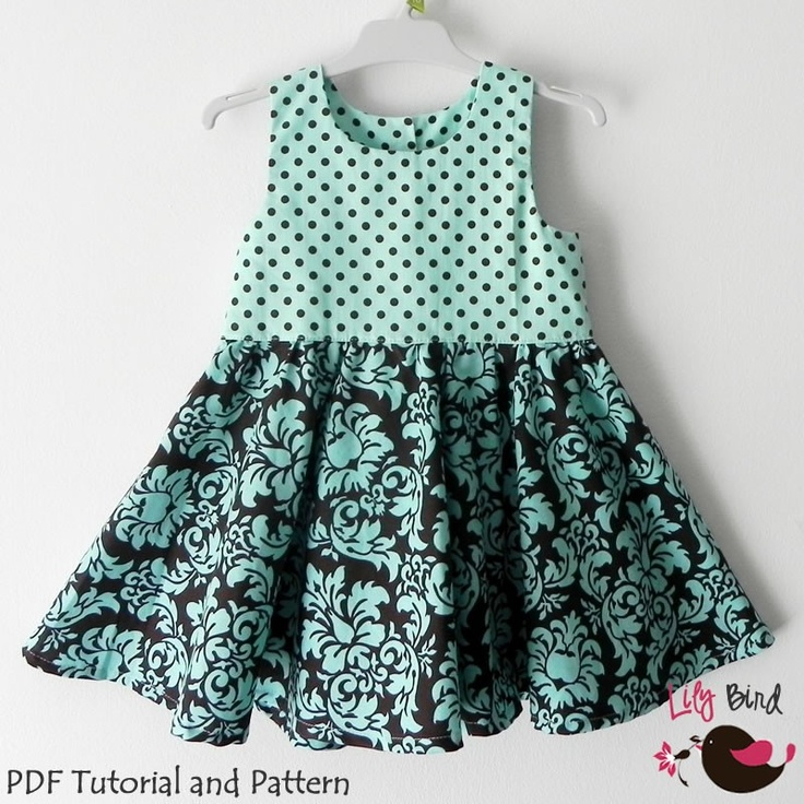 Sophia Dress - 12M to 8Y - PDF Pattern and Instructions