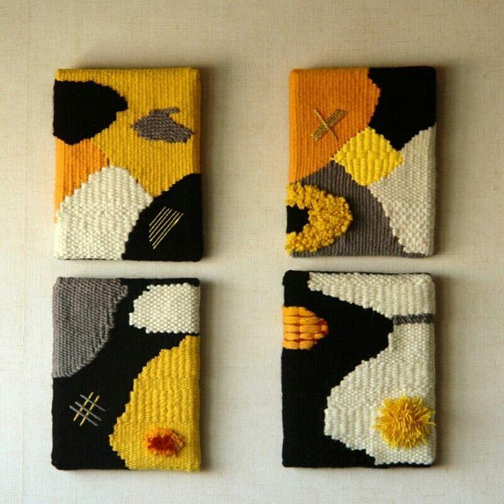 Weavings by corneliasheep. Tapices de corneliasheep