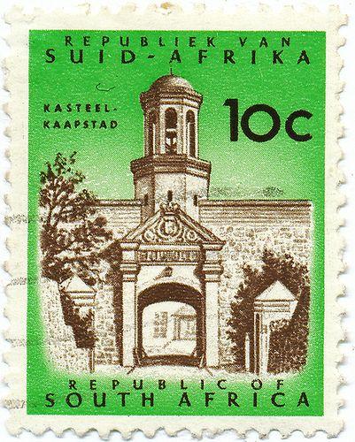 1961-1963 South African Stamp - Castle of Good Hope. BelAfrique your personal travel planner - www.BelAfrique.com