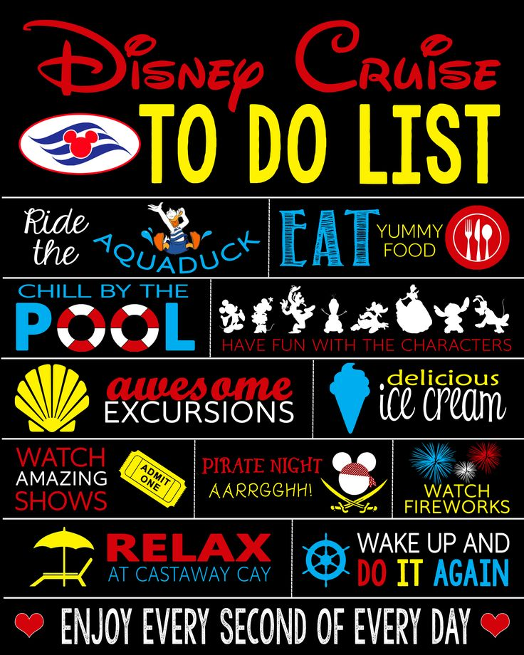 Printable Disney Cruise Door Sign - Customized Family Cruise To Do List - Stateroom Door Decoration