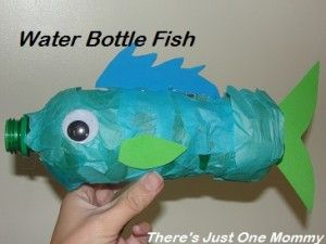 Junk modelling - Water bottle fish - Fun Crafts Kids