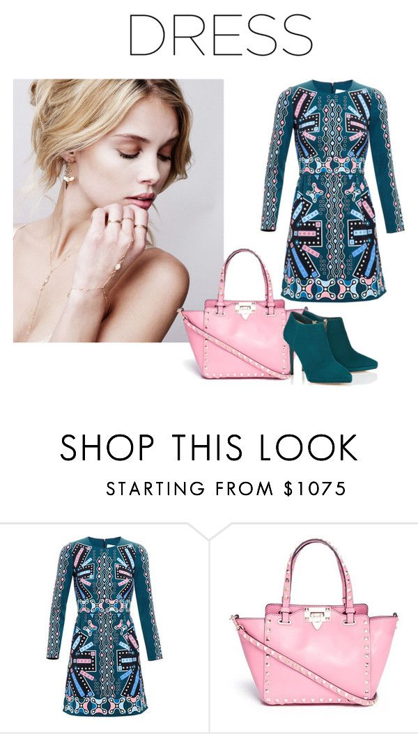 Long Sleeve Dress by adriana-claudia on Polyvore featuring Peter Pilotto, Jimmy Choo, Valentino and longsleevedress