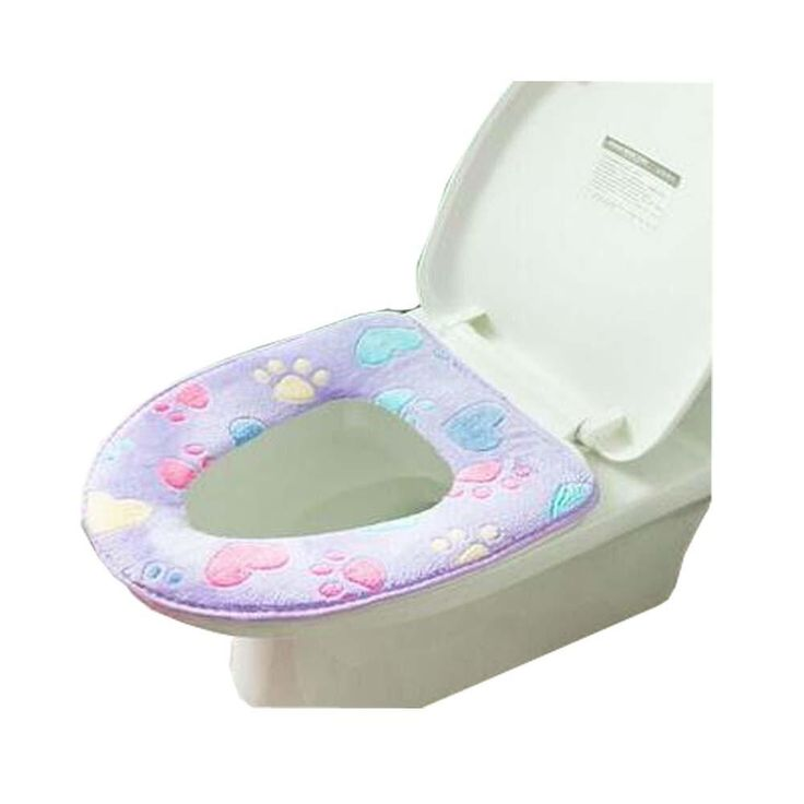 Lovely Children Toilet Seat Pads,Colorful Toilet Mat,Purple