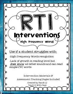 Teach it With Class: RtI Interventions