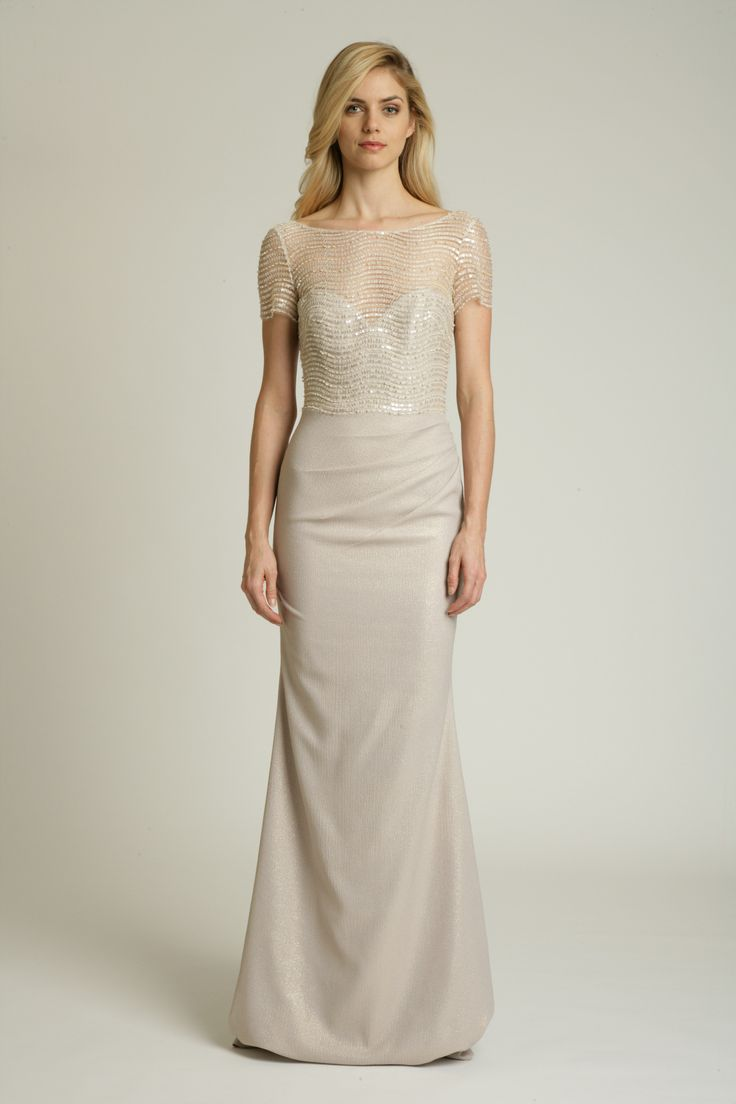 Badgley Mischka Beige Gown