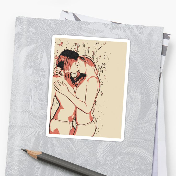 Sexy, kinky, naughty lesbian girls kissing topless • Also buy this artwork on stickers, apparel, phone cases, and more.