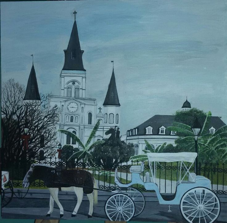 My painting - New Orleans Cathedral