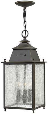 Nantucket Hanging Porch Light With Clear Seedy Glass | House of Antique Hardware