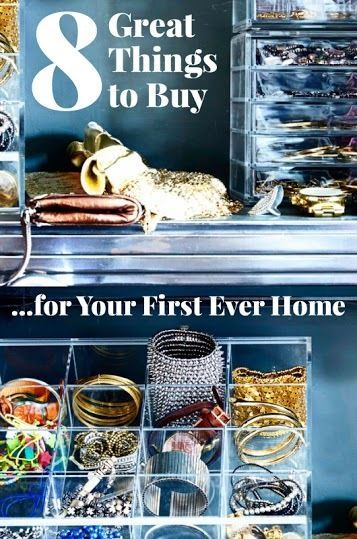 8 Great Things To Buy for Your First Ever Home   | If you've bought a new home. a) Go you, it's REALLY difficult, and b) Now you can start decorating!