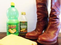 Frugal Living: Shine-Up your Leather Shoes or Boots for Little Extra Cost! Olive oil & lemon juice make a great homemade shoe polish.
