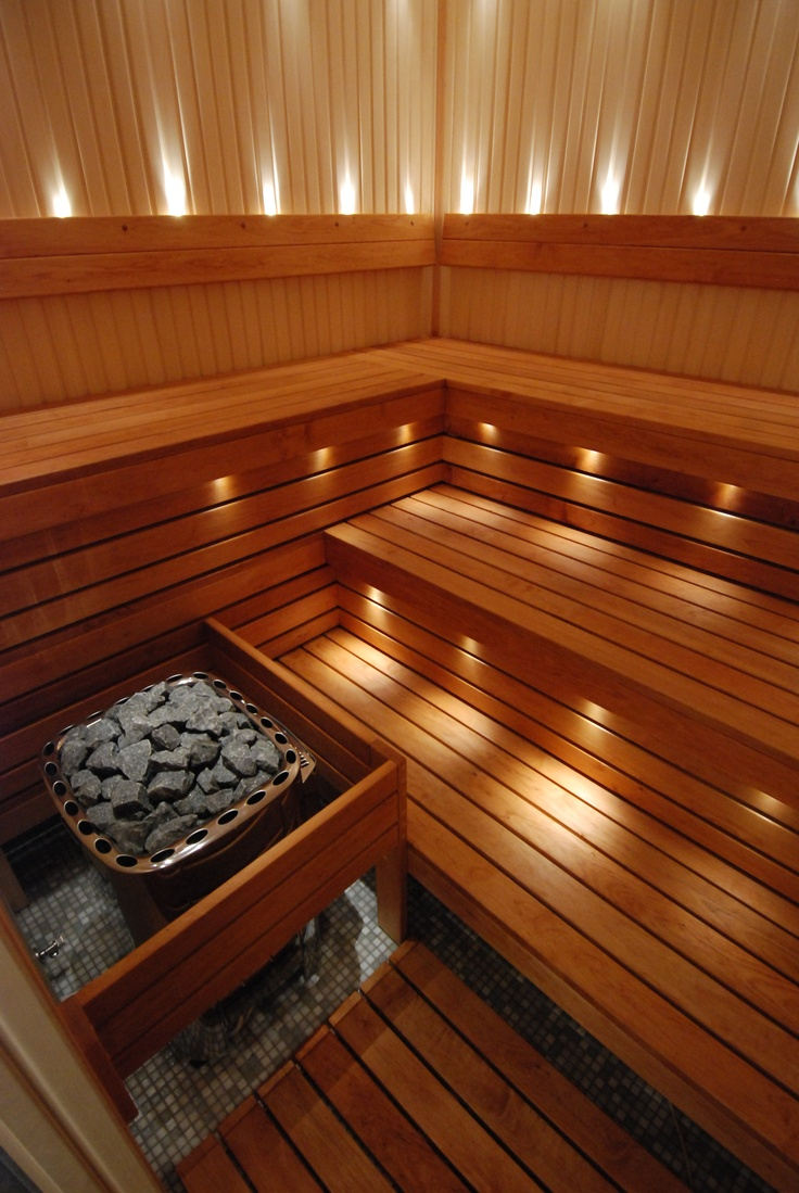 lighting public sauna
