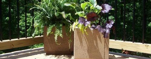 How to Make Patio Paver Planters - bystephanielynn