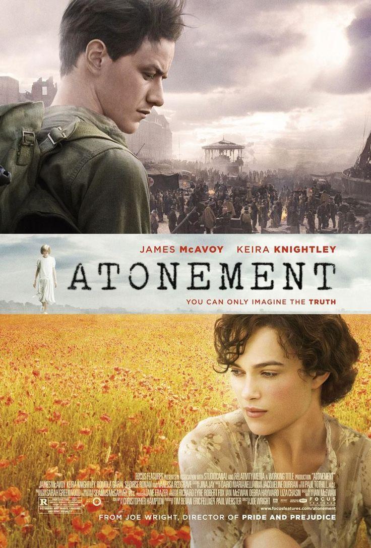 Atonement (conocida como Expiación en España y Expiación, deseo y pecado en latinoamérica)  2007, dirigida por Joe Wright y protagonizada por James McAvoy y Keira Knightley. Está basada en la novela del mismo nombre escrita por el inglés Ian McEwan.