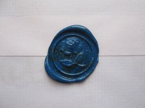 Blue rose wax letter seal   Wax Letter Seal   Pinterest ...