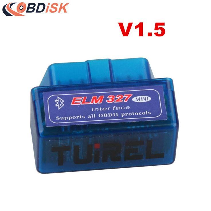 Super MINI ELM327 Bluetooth V1.5 ELM327 V 1.5 Bluetooth ELM 327 Bt adapter Antarmuka v1.5 OBD II Auto Kode Scanner untuk Android