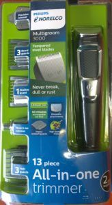 The new updated Philips norelco multigroom 3000 with 13 attachments, MG3750. For more info go to http://www.philipsnorelcomultigroom.com/product/philips-norelco-multigroom-series-3000-13-attachments-mg3750/