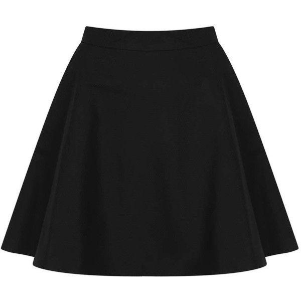 TOPSHOP Textured Pocket Skater Skirt found on Polyvore