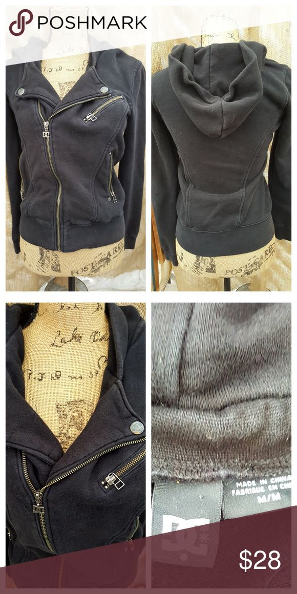 """DC """"James"""" cotton Moto hoody with zippers Used but still looks good. Machine wash cold. DC Jackets & Coats"""